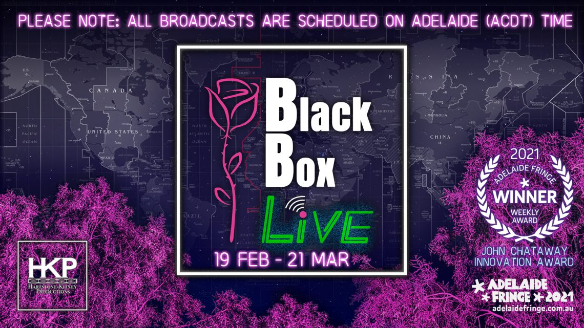 Black Box Live logo against backdrop of world map